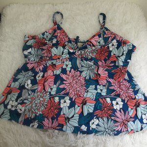 Swimsuits for All 24 F/G Swim Top Floral